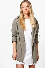 Boohoo Willow Jersey Hooded Utility Jacket