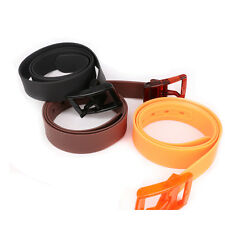 Unisex Thick Rubber Silicone Candy Color Plastic Adjust Buckle Waist Belt
