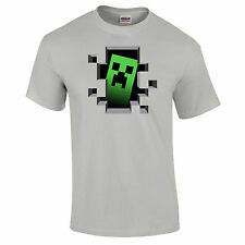 Minecraft OFFICIAL Creeper Inside Gaming Unisex T-Shirt 14F