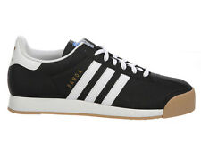 NEW MENS ADIDAS ORIGINALS SAMOA CASUAL SHOES LEATHER TRAINERS BLACK / WHITE / BL