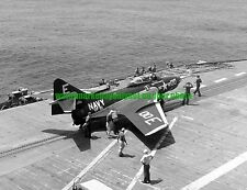 USN Grumman F9F-8 Cougar Fighter  Black n White Photo Navy Military VF-61 CVA-11