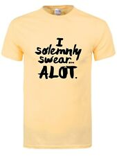 I Solemnly Swear A Lot Men's Haze Yellow T-shirt