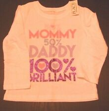NWT Baby Girl Childrens Place White Shirt 2T
