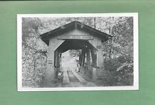 Entrance To LINN COUNTY, OR COVERED BRIDGE On Vintage REAL PHOTO Postcard