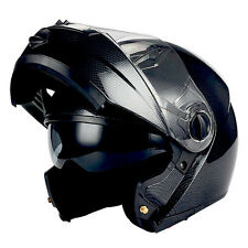 1STorm Commander Motorcycle Full Face Helmet Modular Flip up Sun Visor dual Lens