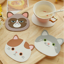 Chic Cute Cartoon Coaster Silicone Cup Cushion Holder Drink Placemat Mat