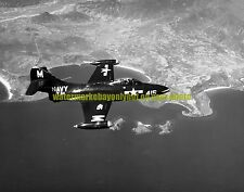 USN Grumman F9F-2 Panther Fighter Black n White Photo Navy Military 1952  war
