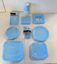 Baby Blue Party Tableware Plates cups napkins party Packs etc - Choose your item