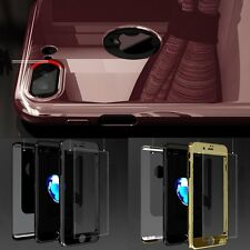 Full Cover Front and Back Case Bumper Tempered Glass Screen for iPhone 7 6 Plus