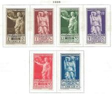6 Italian East Africa MLH/MH Stamps Scott #21-26 from Quality Old Album 1938