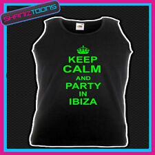 KEEP CALM AND PARTY IN IBIZA HOLIDAY CLUBBING UNISEX VEST TOP