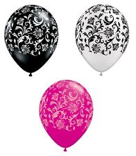 "Pack of 6 Qualatex 11"" Damask Design Print - Party Balloons (Helium or Air fill)"