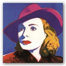 POP ART PRINT Ingrid with Hat Large by Andy Warhol