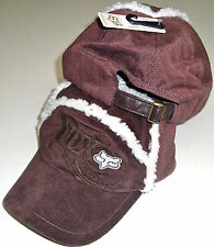 FOX RACING GIRLS GARFUNKLE BROWN/WHITE FUR ADJUSTABLE WOMENS HAT CAP NEW SZ OSFA