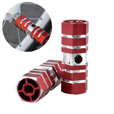 """1 Pair Cycling Bike Bicycle 3/8"""" Axle Sexangle Cylinder Aluminum Alloy Foot Pegs"""