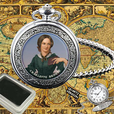 CHARLOTTE BRONTË ENGLISH NOVELIST, POET  POCKET WATCH GIFT ENGRAVING