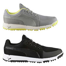 NEW Mens Puma Grip Sport Spikeless Golf Shoes Black / White - Choose Your Size!