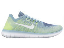 NEW WOMENS NIKE FREE RN (RUN) FLYKNIT 2017 RUNNING SHOES TRAINERS BLUE MOON / WH