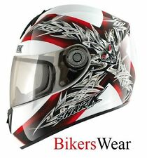 Shark RSI Thetys White/Red Motorcycle Motorbike Helmet cheapest on ebay XS-XL