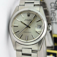 Rolex Oyster Date 32mm Case Silver Index Dial 6466 Watch Chest