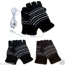 Washable 5V USB Powered Heating Heated Winter Hand Warmer Gloves Electric Laptop
