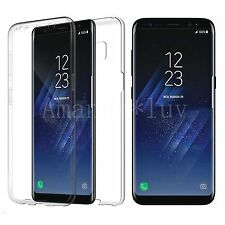 360 Degree Ultra Thin Clear TPU Gel Case Cover for For Samsung Galaxy S7 Edge S8