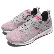 Puma Ignite EvoKNIT Low Wns Grey Pink Women Running Shoes Sneakers 189905-03