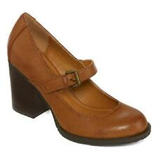 Women's MIA GIRL KELEY Brown Mary Jane Heels Casual Dress Shoes New