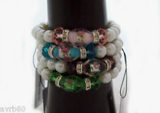 bracelet with faux pearl and murano glass with colour choice new