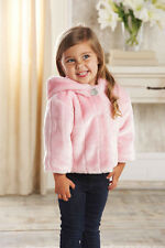 Mud Pie Baby PINK FUR COAT 176187 Pretty In Pink Collection