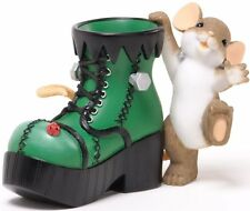 Charming Tails MOUSE WITH BIG GREEN BOOT Figurine Mice Monster of a Step NIB