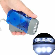 Plastic Hand Pressing 3LED Dynamo Wind up Flash Light Torch Outdoor Camping 5X