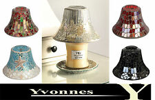 WoodWick Glass Shade and Plate Set - Fits Medium and Large Yankee Candles