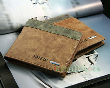 Fashion Men's High Quantity Wallet Pocket Zipper Card Clutch Cente Bifold Purse