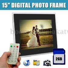"12""/15"" FRAMELESS HD Digital Photo Frame MP3 MP4 Audio Video Player+ 2GB SD Card"