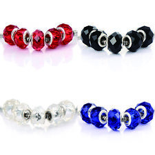 Silver Plated murano glass beads rainbow charms Fit bracelet 10pcs jewelry Gifts