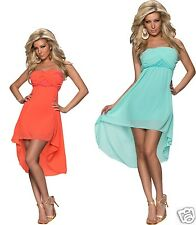 4111 Bandeau dress made of Chiffon mullet - style dress available in 2 colours
