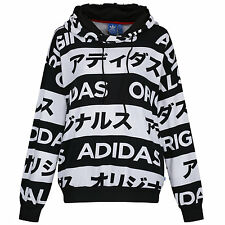 adidas ORIGINALS SIZE UK 6-22 TYPO HOODIE WOMEN'S LADIES GIRLS PULLOVER HOODY