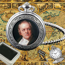 WILLIAM BLAKE ENGLISH POET & ARTIST  POCKET WATCH GIFT ENGRAVING