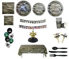 American Heroes Party in a Box or Party Ware Separates Military Decorations fnt