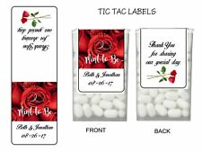 56 Mint To Be Roses Personalized Wedding Favor Tic Tac Labels Stickers Wrappers