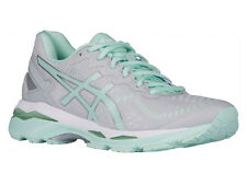 NEW WOMENS ASICS GEL-KAYANO 23 RUNNING SHOES TRAINERS GLACIER GREY / BAY / WHITE