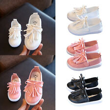 Kid Girl Baby Tassel Shoes Flats Slip On Loafers Casual Shoes 3 Colors Available