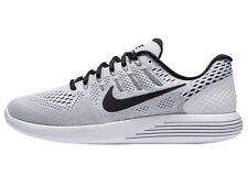 NEW MENS NIKE LUNARGLIDE 8 RUNNING SHOES TRAINERS WHITE / BLACK