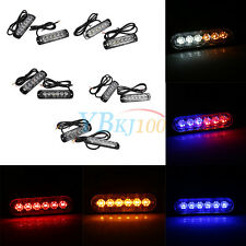 2x Car Truck SUV 6 LED Strobe Light Flash Emergency Hazard Warning Lamp 6W EB