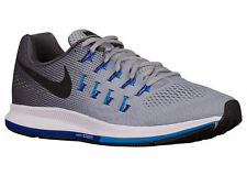 NEW MENS NIKE AIR ZOOM PEGASUS 33 RUNNING SHOES TRAINERS WOLF GREY / BLUE GLOW