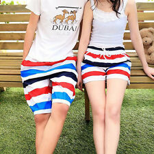 Striped Beach Swim Wear Pants Surf Board Polyester Casual Shorts Quick Dry Pants