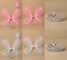 PACK OF 3 FAIRY WINGS, WAND & TIARA, BALLET, COSTUME, FANCY DRESS, PARTY, BOOK