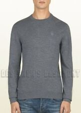 GUCCI Mens gray 100% WOOL crewneck HYSTERIA Crest LOGO sweater NWT Authentic!