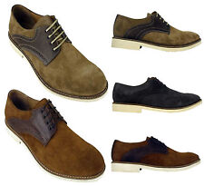 Mens H by Hudson Kanter Suede Leather Brogues Shoe Derby Brogue Shoes Size 8-13